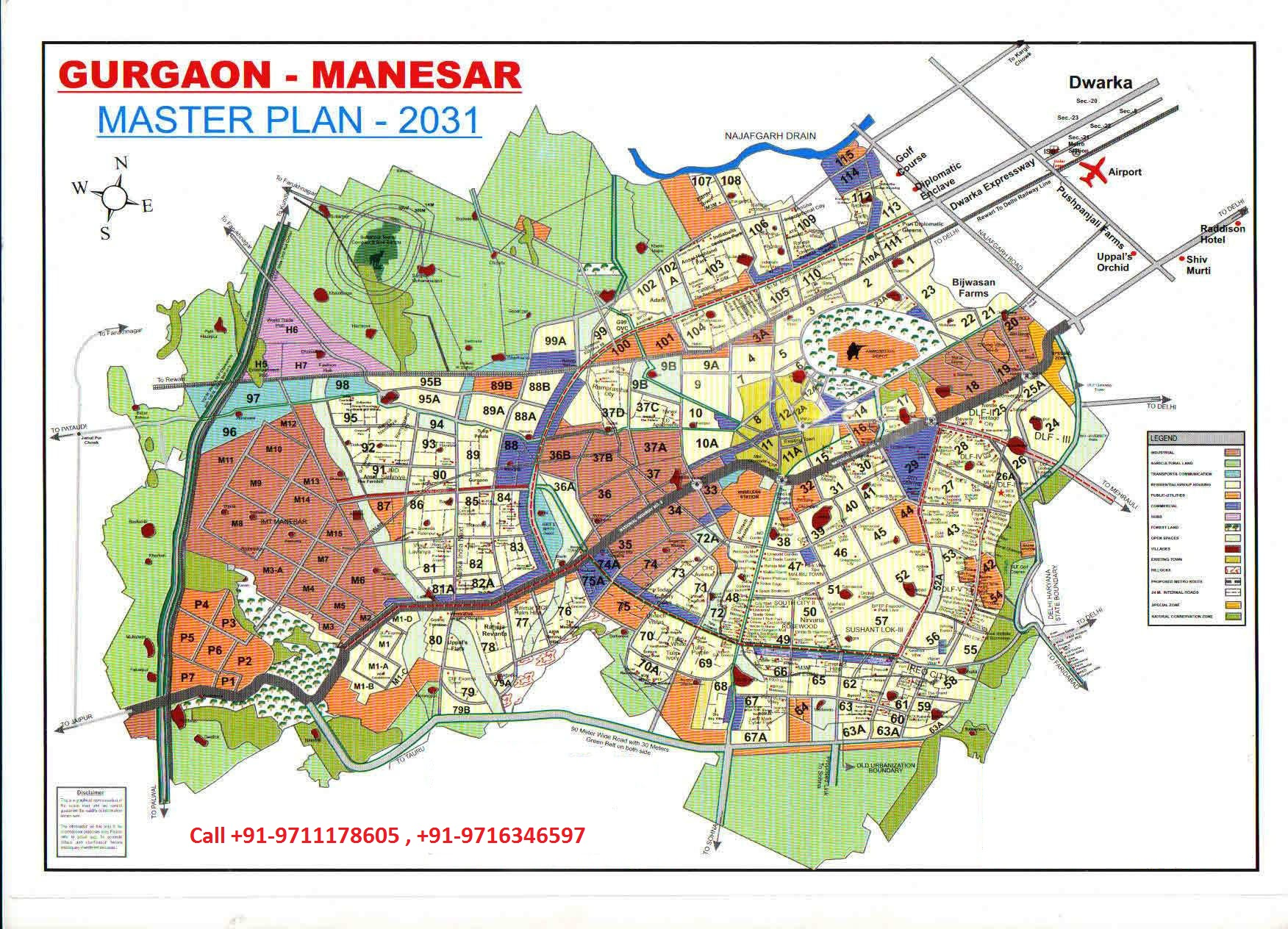 gurgaon manesar master plan