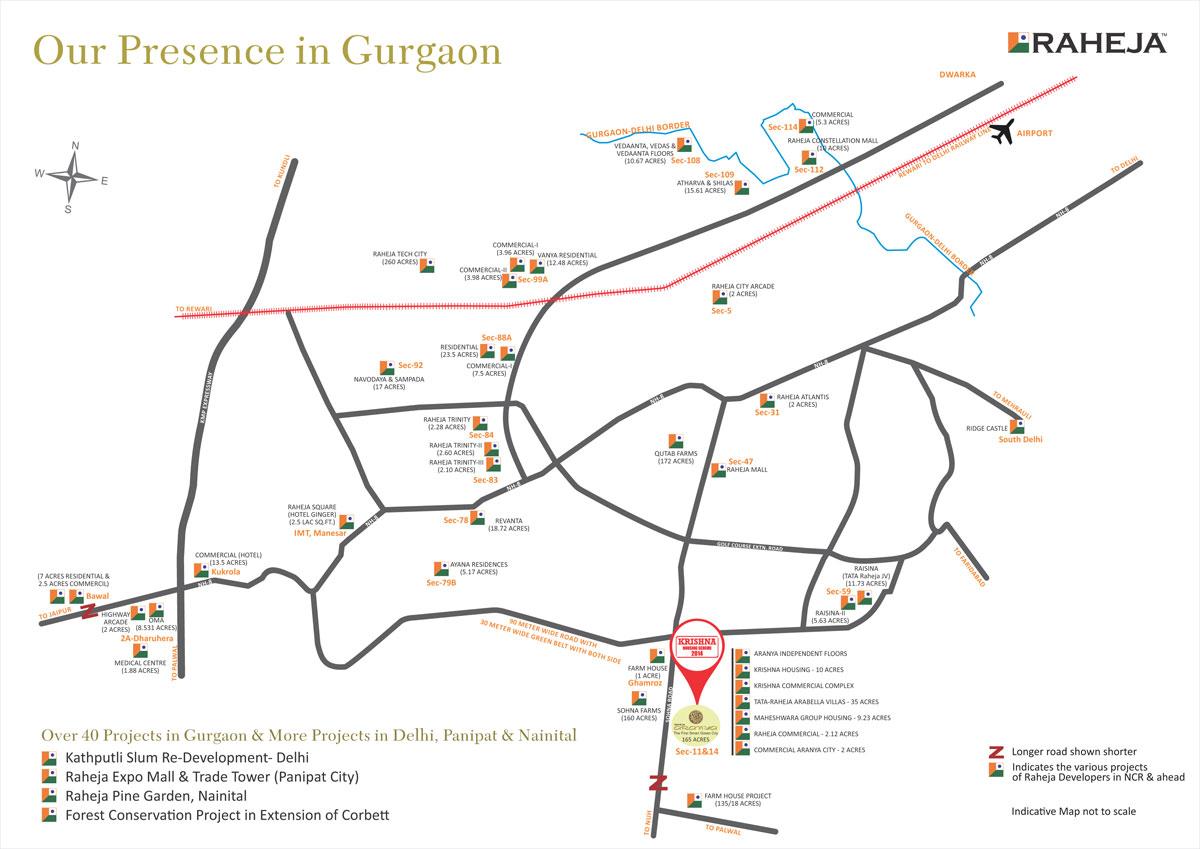 Krishna Raheja Location Plan